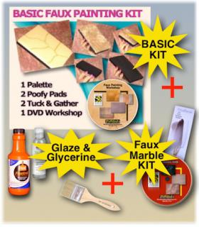 Ultra faux painting combo kit with supplies